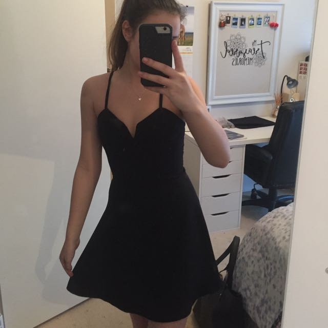 Kookai Size 34 Black Skater Dress