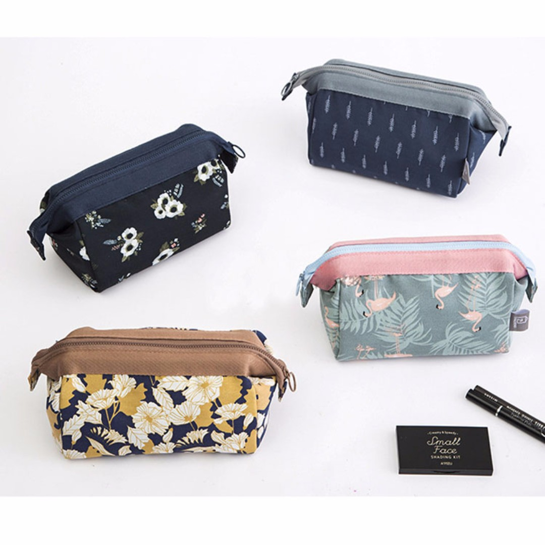 Korea Design Printed Cosmetic Travel Pouch Makeup Organizer Bag B12406
