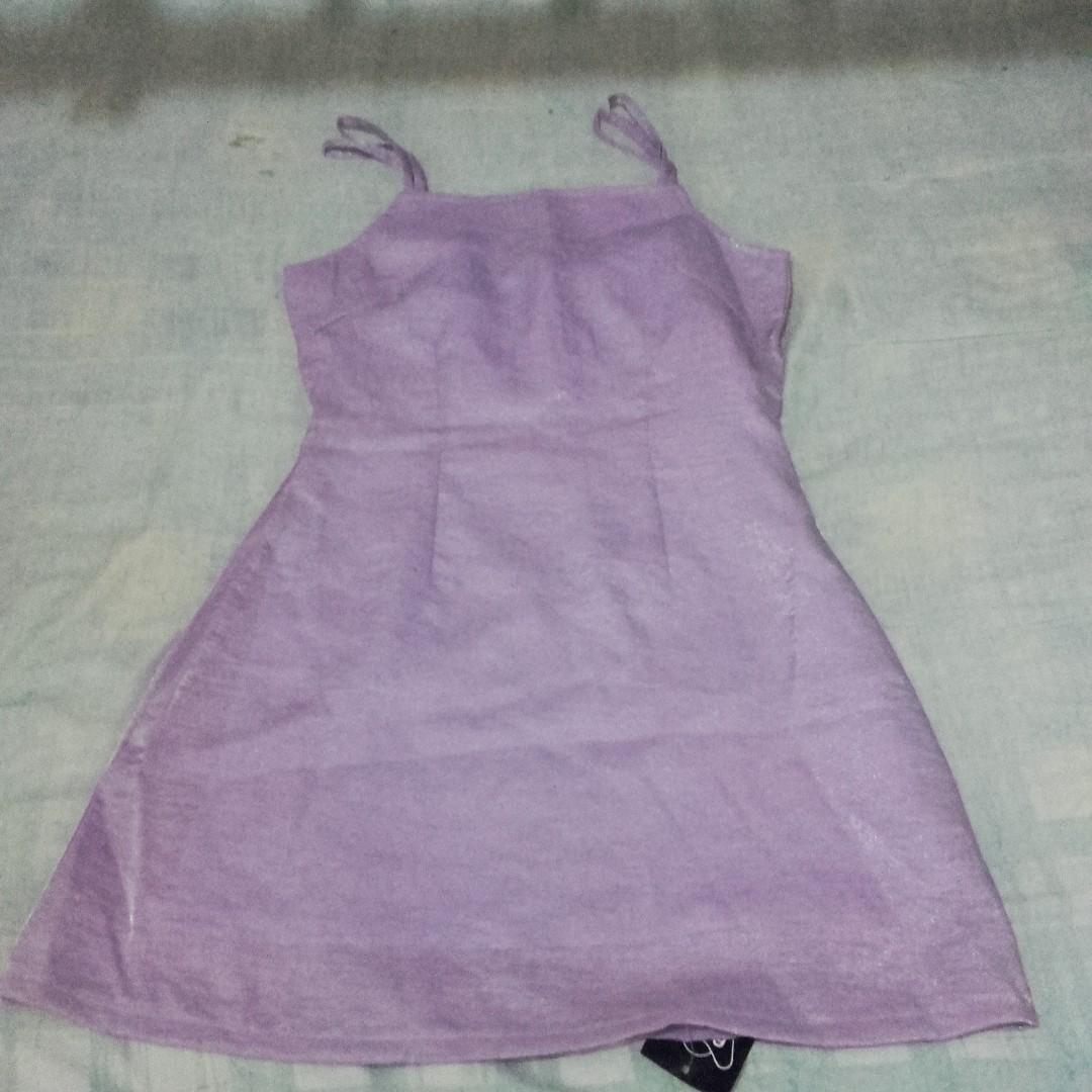Lavander silk dress