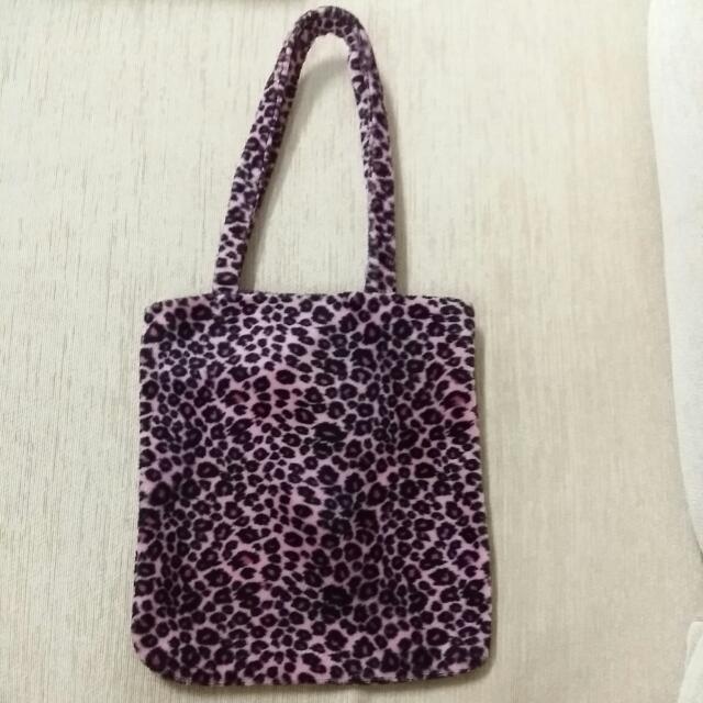 Leopard Print Fur Bag