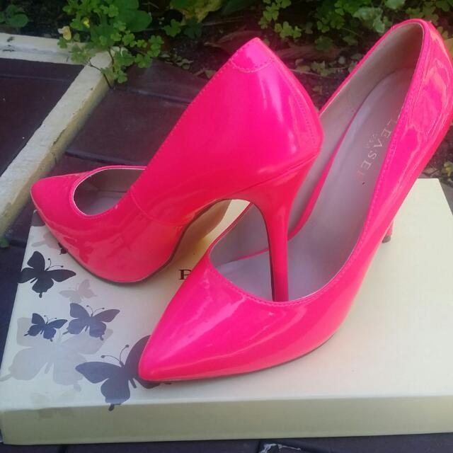 Lipstick Pink High Heels