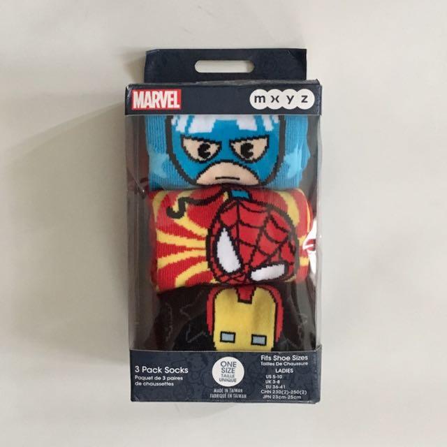 Marvel Socks Pack Of 3