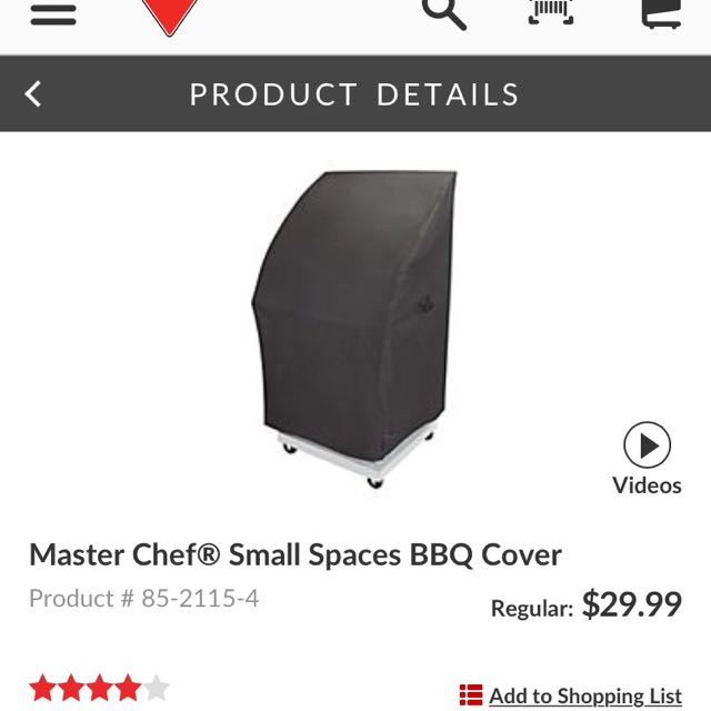 Master chef BBQ Cover