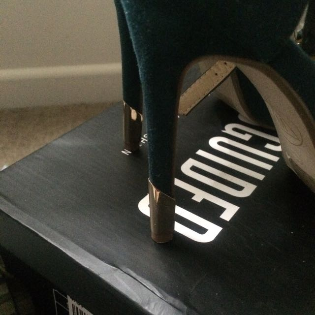 Missguided Teal Heels Size 6