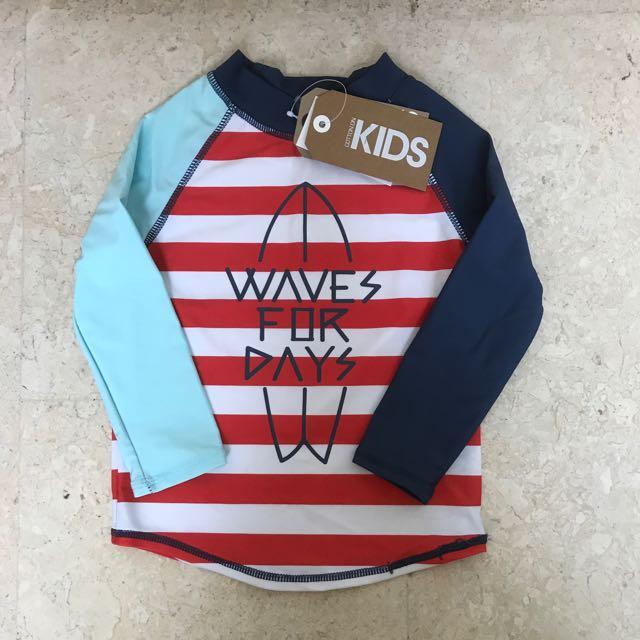 c5e7b4173 New Fraser Ls Rash Vest (Cotton On Kids), Babies & Kids, Boys ...