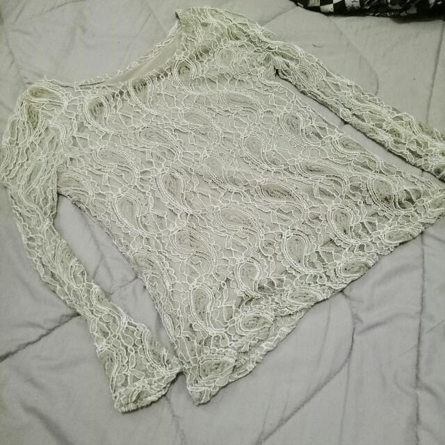 Nude Lacy top