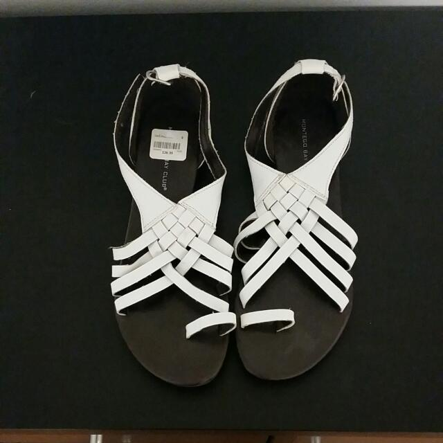 NWT White Gladiator Sandals Size 8