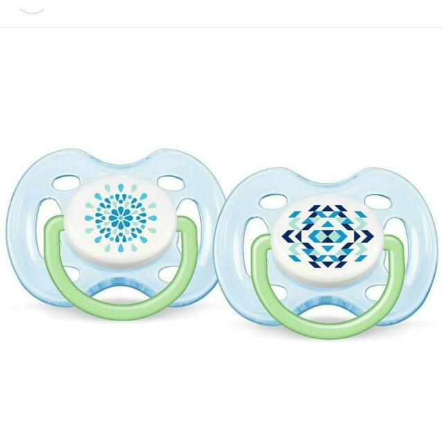 Philips Avent BPA Free Contemporary Freeflow  Pacifier,  0-6  Months,  2  pcs