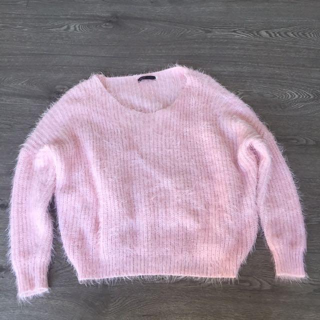Pink Fluffy Knit