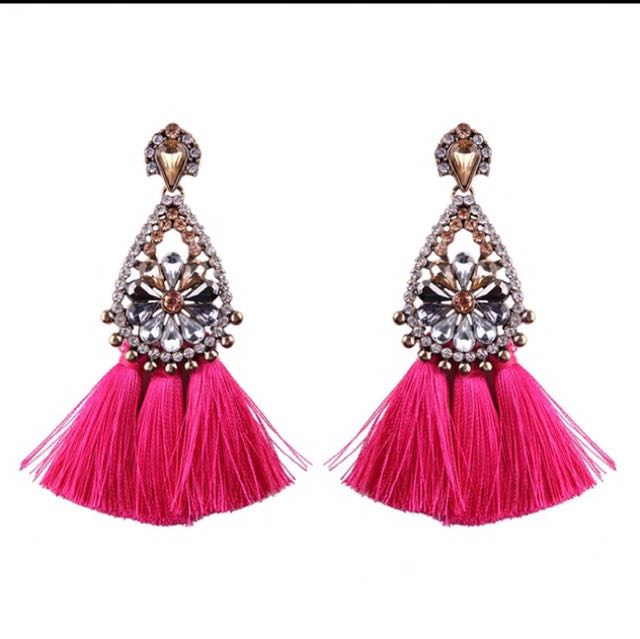 Pink Goldy Earring