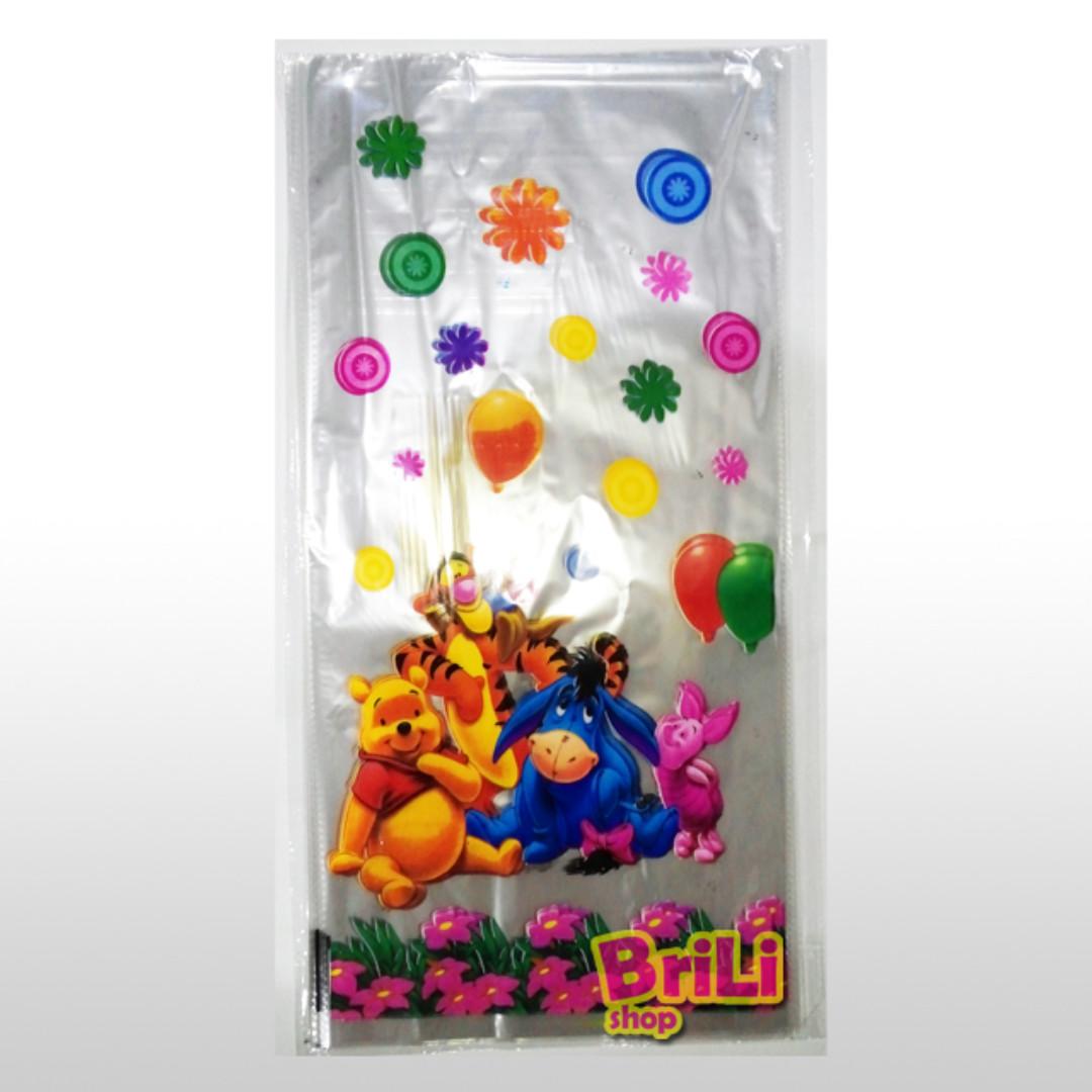 Plastik Snack Winnie The Pooh | Plastik Souvenir Ultah | Goodie Bag