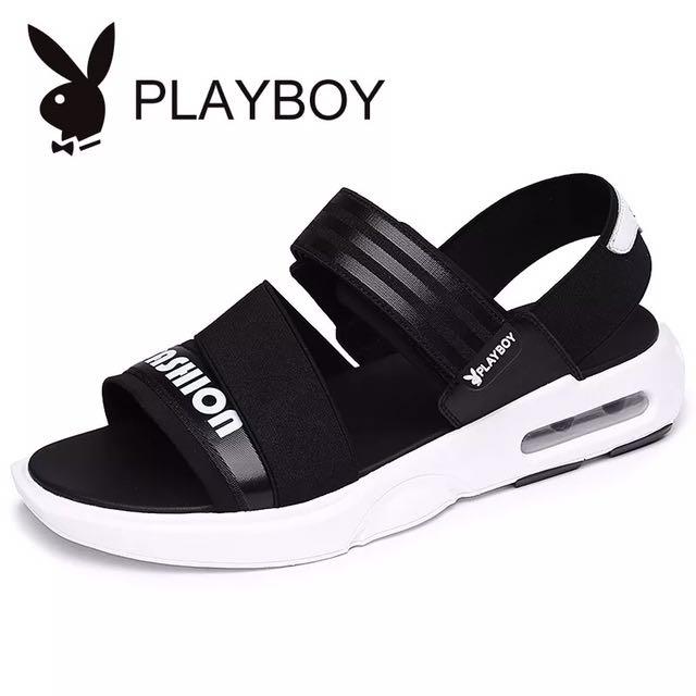 [限時特價]Playboy潮流氣墊涼鞋