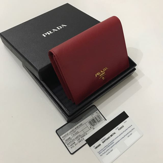 1a225593bc4f Prada 1m0668 Saffiano Leather French Wallet with Inner Flap