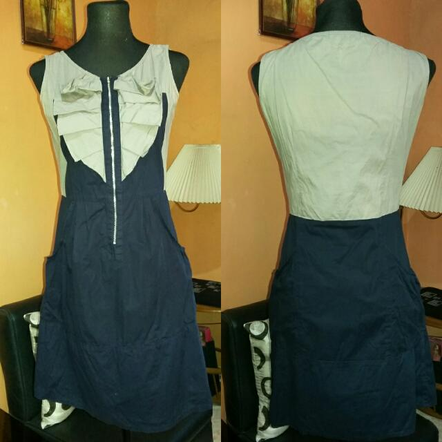 ⭐SALE⭐Preloved Navy Blue Ruffle Dress
