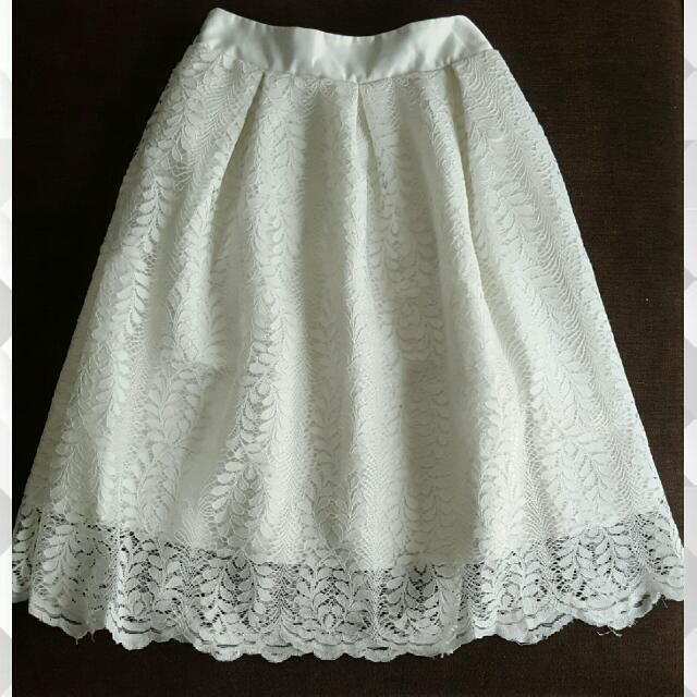 Puffy Lace Skirt