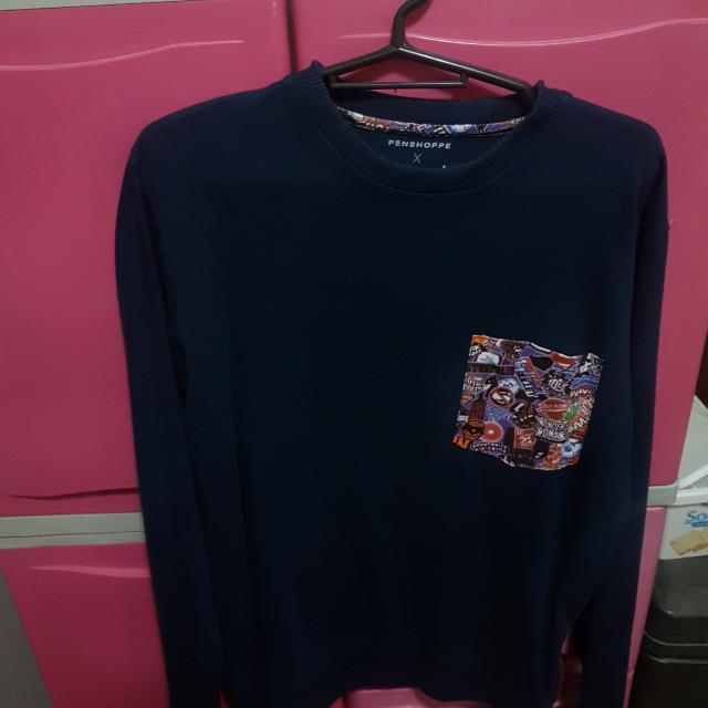 REPRICED Pullover with printed pocket