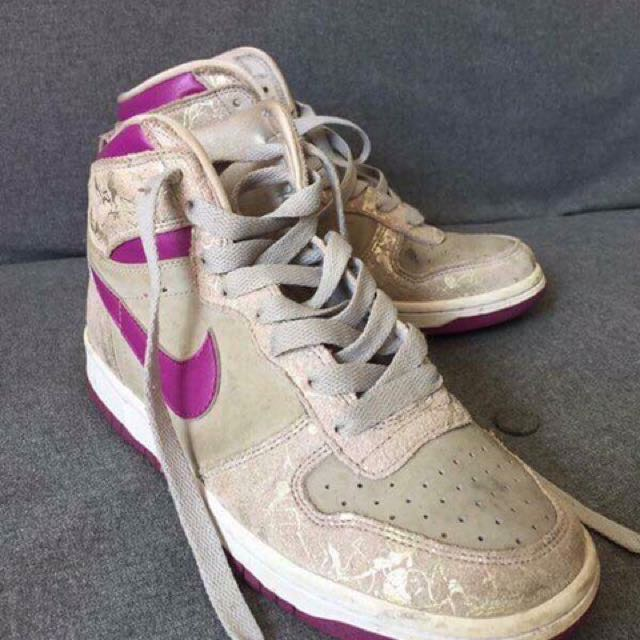 Purple Nike High tops