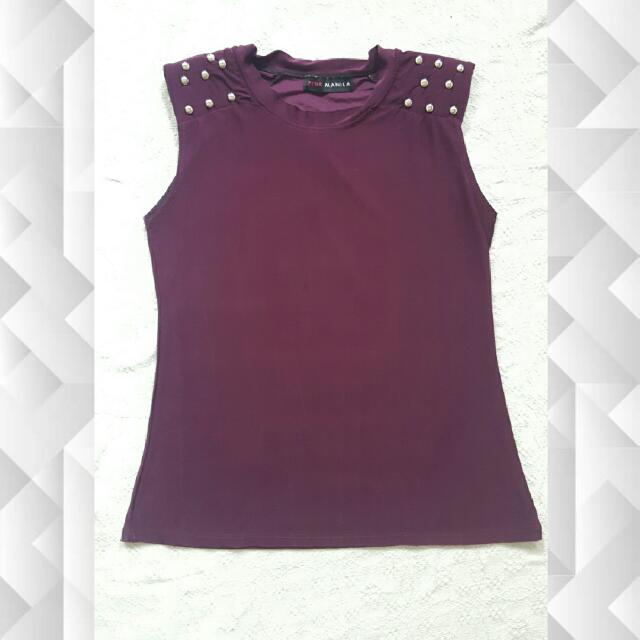 Purple Sleeveless with Studs