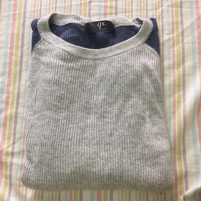 QS拼接袖毛衣💗