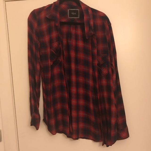 RAILS - Long Sleeve Button Up Flannelette