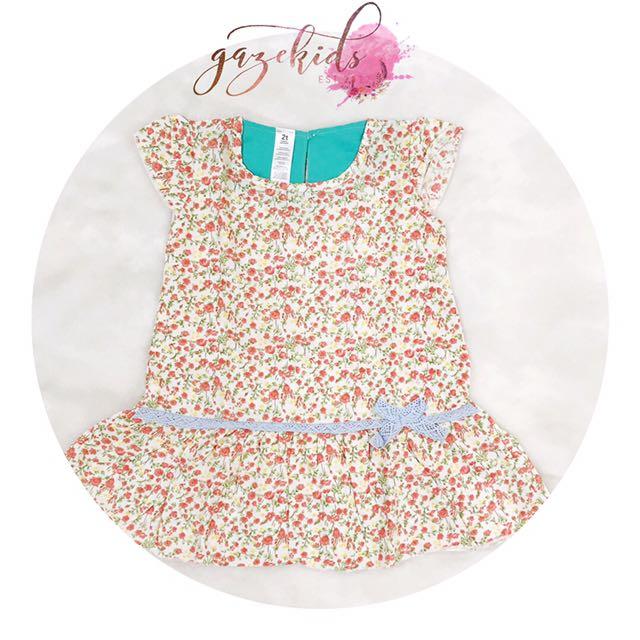 Ribbon Flower dress •Barang Jualan•