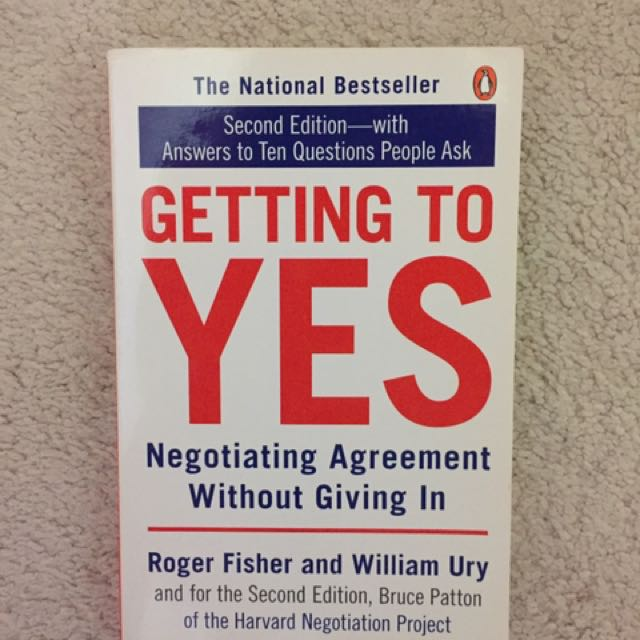 Roger Fisher And William Ury- Getting To Yes