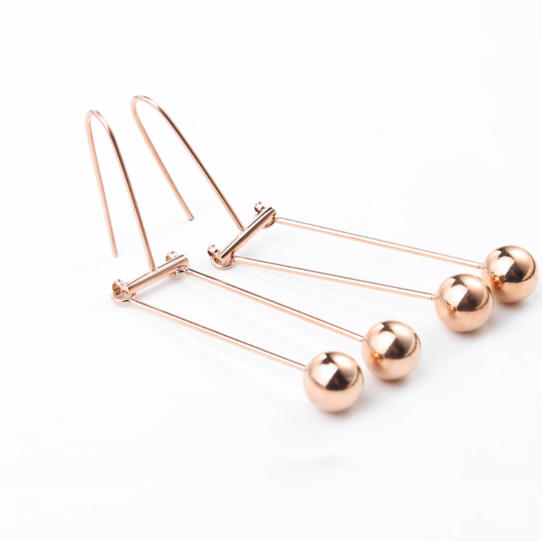 Rose Gold Tone Earrings Brand New