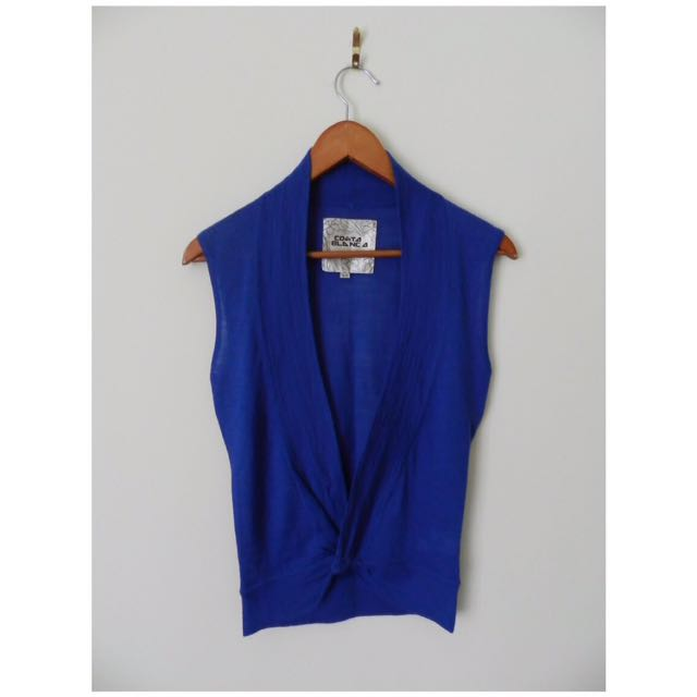 Royal Blue Costa Blanca Wrap Top