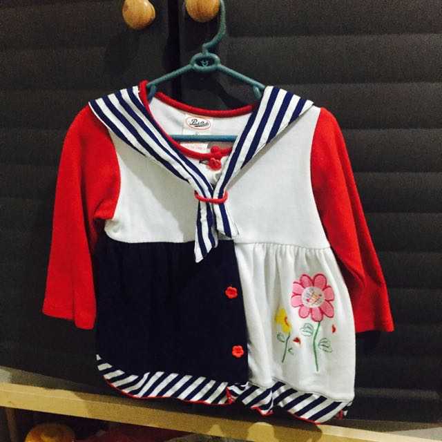Sailor Style Baby Dress
