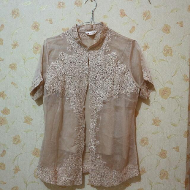 SEMI KEBAYA BROWN WITH MUTE