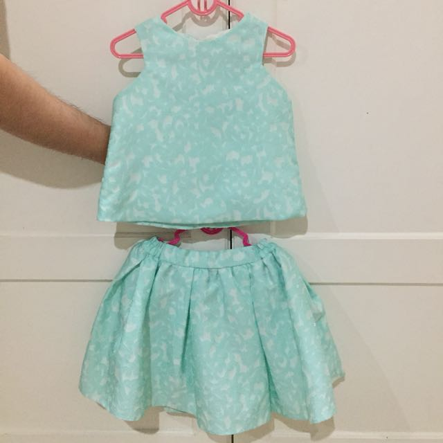 Set Top Skirt Green