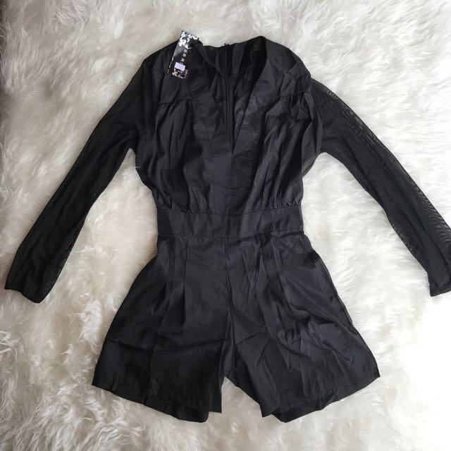 Sexy Black Playsuit
