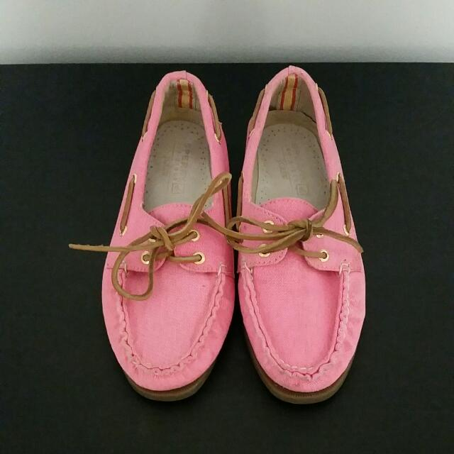 NEW SPERRY For JCREW pink Loafers Size 7