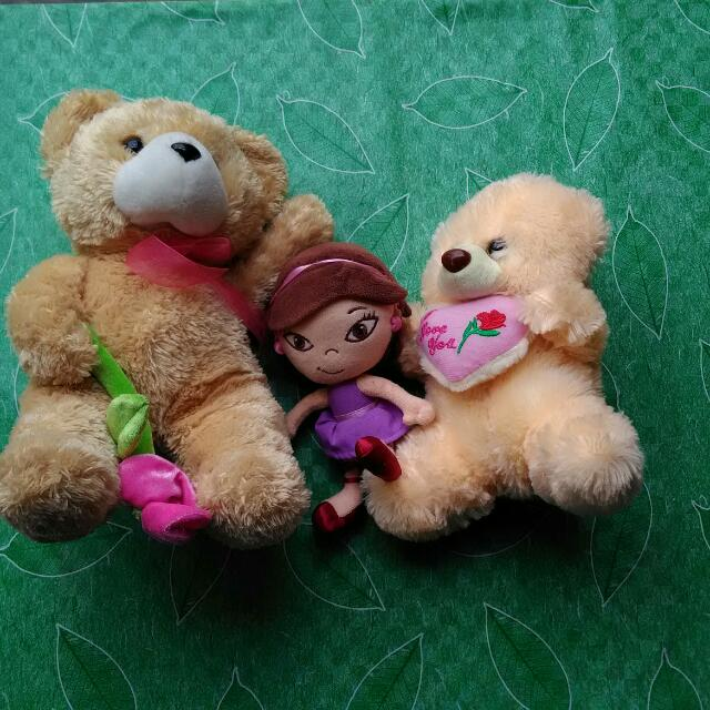Teddy Bear And Doll SET