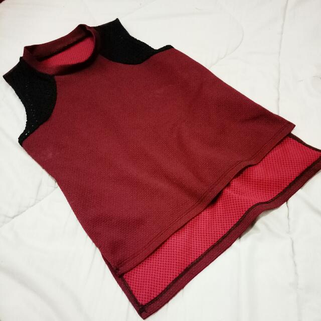 Trendy maroon Top