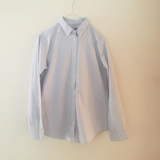 Uniqlo Light Blue Shirt M
