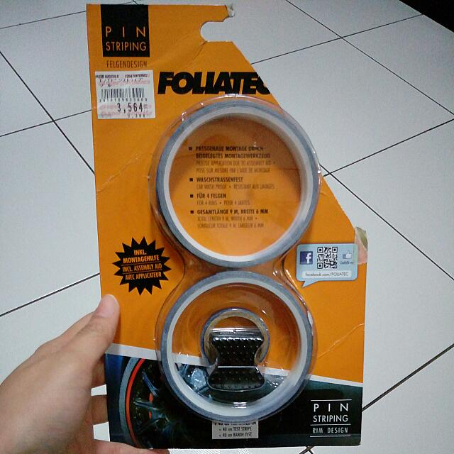 Velg Pin Striping Dark Blue From Foliatec.com