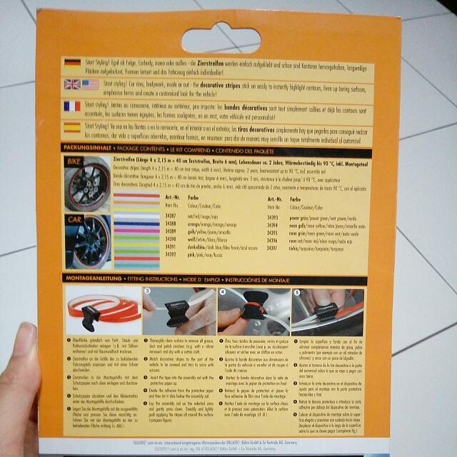 Velg Pin Striping Neon Red From Foliatec.com
