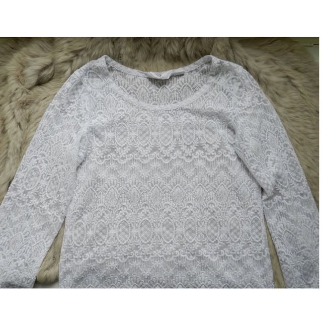 White Crotchet/Lace Top