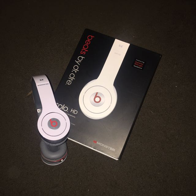 White Solo HD Beats (cord)