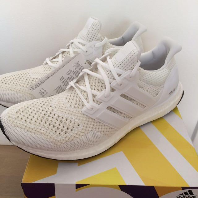 WTS Adidas Ultra Boost Triple White 1.0, Men's Fashion