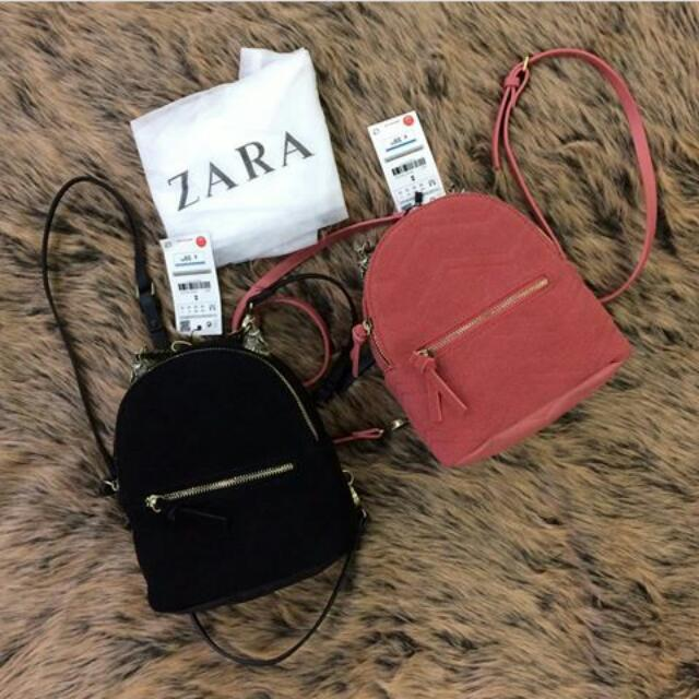 ZARA LEATHER BACKPACK WOLVES ORIGINAL