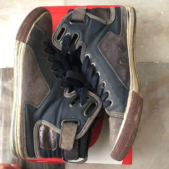 zara men high cut shoes