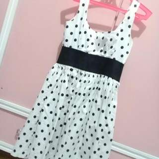 Necessary Objects Polkadotted Dress