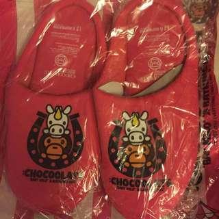 A bathing ape x Chocolate 拖鞋