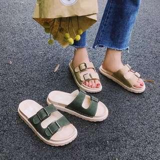 🌸ulzzang雙扣海灘涼鞋#我有涼鞋要賣