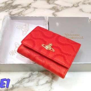 Vivienne Westwood Wallet Squiggle Pelle 1311 Rosso