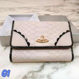 Vivienne Westwood Wallet Frilly Snake 4730 Rosa