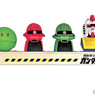 高達系列全套四款連別注版基地座 Shell X Gundam 限量版汽車香薰座/擺設精品 ~可放香必飄 [全套四款連別注版基地座]