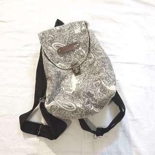 Paisley print backpack